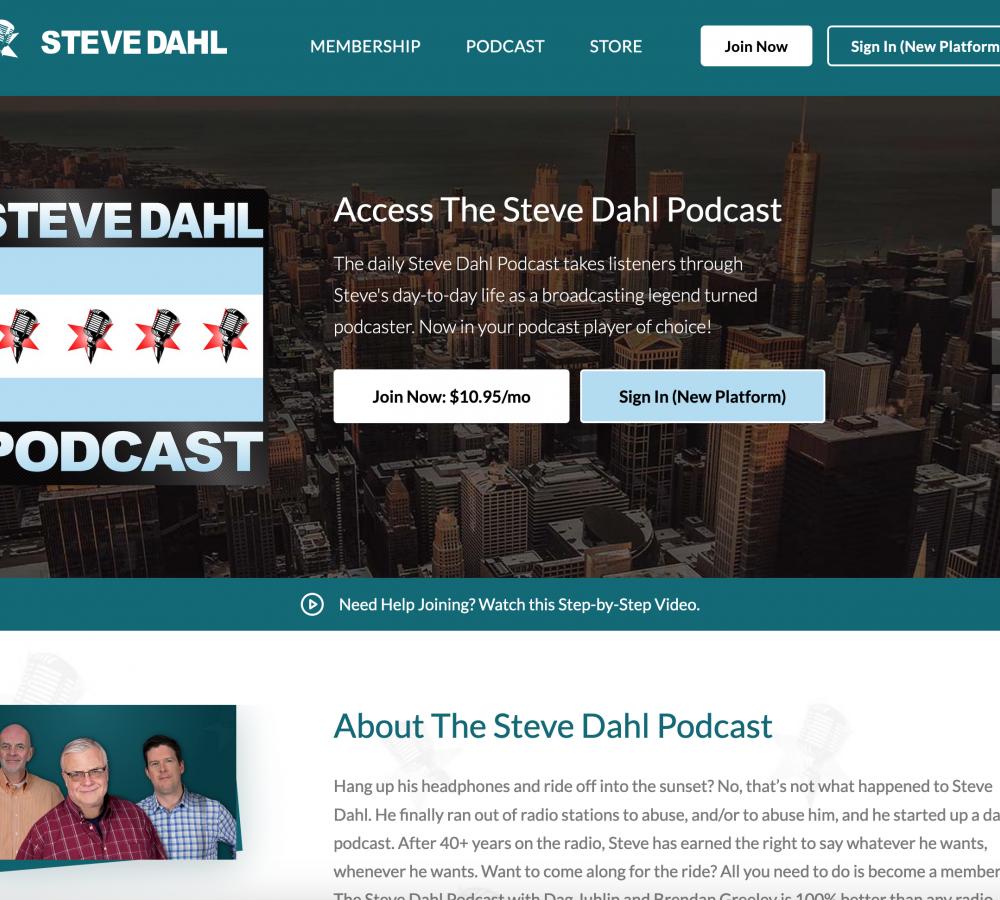 Dahl Podcast Website
